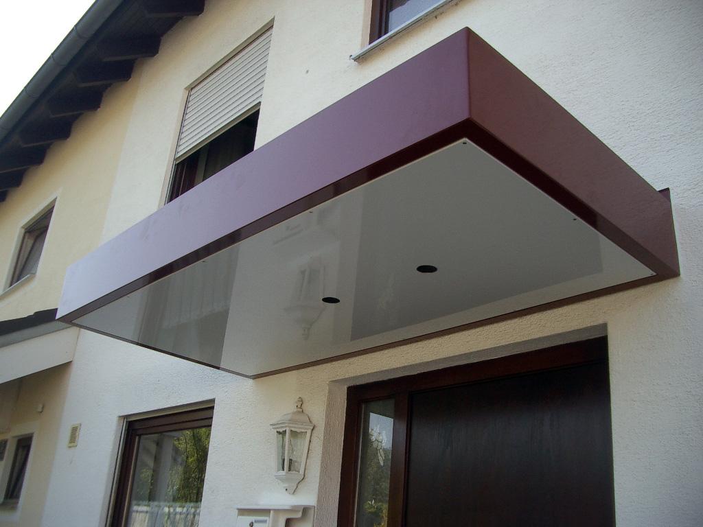 Vordach Beton fürbacher metalltechnik blechbearbeitung blech